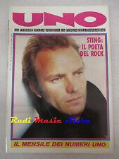 rivista UNO 3/1991 +POSTER Eros Prince Sting Litfiba Pino Daniele Bon Jovi No cd