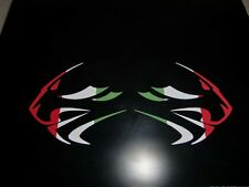 Aprilia Racing Lion Head stickers  x 2  italian flag colours