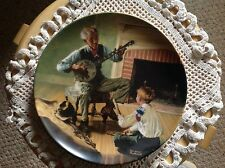 "Knowles Plate, Norman Rockwell, ""The Banjo Player"" With papers."