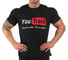 "T-Shirt Bodybuilding Fitness Palestra "" you train """