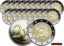 21 X 2 EUROS CONMEMORATIVOS 10º ANIV. DEL EURO (TYE) 2012 - SIN CIRCULAR
