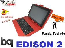 FUNDA TECLADO PARA TABLET Bq EDISON 2 Fnac 10 Color ROJO