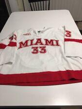 Game Worn Used Miami Red Hawks Hockey Jersey Bauer Size 60G #33 Schmidt