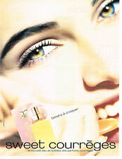 PUBLICITE ADVERTISING 064  1994  Courrèges  eau de toilette  SWEET        200614
