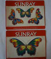 SunRay Butterfly Sticker window Stained Glass Mirror art door decal Car bumper