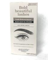 Equate Lash Enhancement Black Liquid Gel Eyeliner Bold Beautiful Lashes NIB