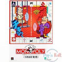 Flyer Monopoly Chirashi Handbill A4 Sony Playstation PS1 [JAP] Promo VGC