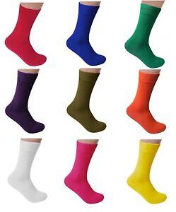Men Bamboo Solid Color Dress Seamless Socks by Rambutan Antibacterial US8.5-12.5