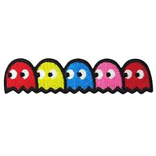 PAC MAN GHOST Embroidery Patch Iron On Lovey Applique Video Retro Arcade Game 4""