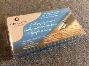 Sheaffer Calligraphy Deluxe Kit Pens Cartridges Etc Unused