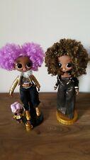 Lol Surprise OMG Dolls Bundle Royal Bee & Winter Disco 24kDJ With Little Sister