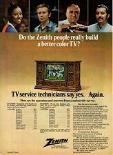 1973 Original Vintage Zenith Television Ad