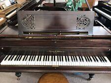 """Henry F Miller Grand Piano 6'7"""" Mahogany"""