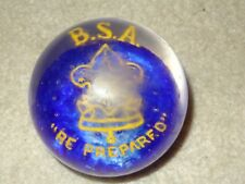 Boy Scout BSA Be Prepared Crystal Glass Paper Weight