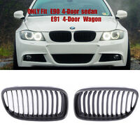 Matte Black Front Kidney Grill Grille For BMW E90 E91 328i 335i 4-Door 2009-2011