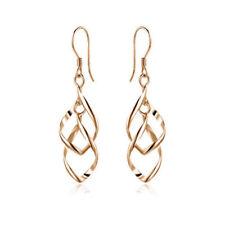 Simple Women Silver Plated Fashion Lady Dangle Ear Stud Hoop Earrings Jewelry