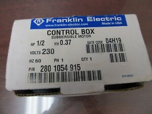 UNUSED Franklin Electric Control Box 1/2 HP 230 Volt 2801054915 SUBMERSIBLE