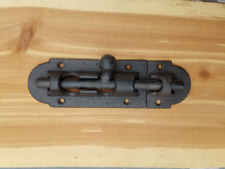 Large Cast Iron Two Piece Sliding Latch Door Lock