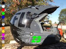 Pair 2-inch Custom Dirt Bike Helmet Side Numbers | Motocross Stickers Decals USA