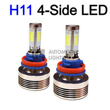 2x 4-Side H11 H8 LED Headlight Kit Bulbs 80W Super Bright 6000K Crystal White
