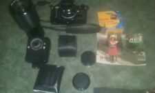 Canon AE-1 Program,50mm, 70-210mm Lens, 2 Flashes, 3 Filters,2X Conv, Camera Bag