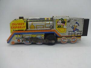 Train Engine Tin Litho DISNEY Locomotive Clockwork Wind Mickey Mouse like marx