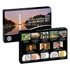 2016 S US Mint 90% Silver Proof 13 Coin Set (16RH) with box and COA low mintage