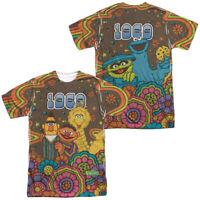 Sesame Street Psychedelic 69 Front Back Print Sublimation Adult T-Shirt