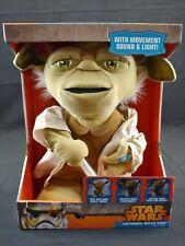 """YODA STAR WARS  Lucas Films  Battle Talking Yoda, Deluxe 16 """" Action Plush"""
