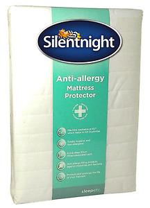 Neuf Silentnight Double Anti-allergique Matelas Protecteur Doux Microfibre