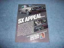 """1978 Datsun 200 SX Vintage Color Ad """"SX Appeal..."""""""