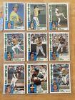 1984+Topps+Baseball++-+Oakland+Athletics+-+9+Card+Lot