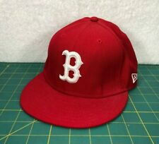 Boston Red Sox New Era 59Fifty Youth Red White Logo MLB Baseball Hat~Size 6 5/8