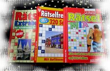 BÜCHERWURM ANGEBOT: 15 neue RÄTSELHEFTE * 960 Seiten Rätselmix + KUGELSCHREIBER