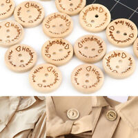100PCS 2 Holes Sewing Handmade Wooden Buttons For Shirt Coat 15mm/20mm/25mm