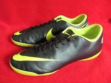 Nike Mercurial Victory III IC Soccer Shoes Black Neon Green  Men's US 8 EUR 41