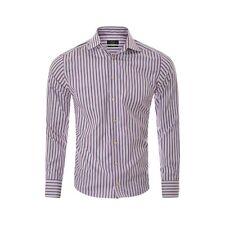 ETON Mens Formal Shirt Slim Fit Workwear Dress Long Sleeve Size 40 Purple Stripe