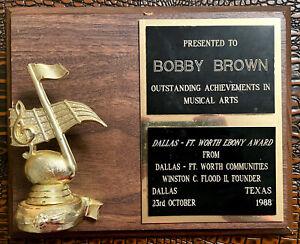 Original Bobby Brown 1988 Outstanding Achievements Award