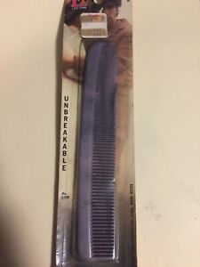 Vintage NOS LifeTime Unbreakable Hair COMB Purple Wide Tooth Unused Sealed