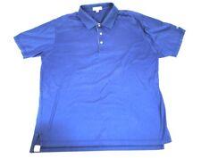 Peter Millar Mens Xl Cotton Navy Blue Golf Polo Shirt