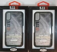 LOT OF 2! GRIFFIN SURVIVOR 5.11+ TACTICAL CLEAR CASE FOR iPHONE X ULTRA SLIM