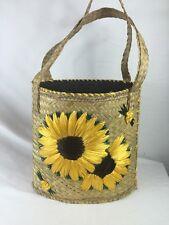Hand Woven Wicker Sunflower Hand Bag, Women's Shoulder Bag