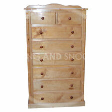 HANDMADE DIANA SOLID PINE 2+6 DRAWER CHEST KENILWORTH POLISHED(ASSEMBLED)