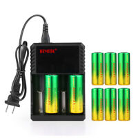 Skywolfeye 26650 Battery 8000mAh Li-ion 3.7V Rechargeable For Flashlight USA Lot