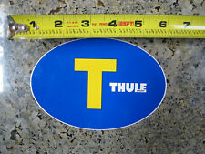 """Sticker Thule Rack Sweden Blue/Yellow Oval Sticker 6"""""""