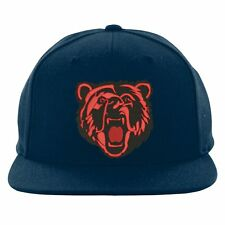 Angry Bear Face Snapback, Pet Lovers Gift Bear Embroidered Design Cap