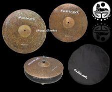 Masterwork Cymbals Natural Cymbal Pack Box Set (14HH-16CRS-20R+Bag)