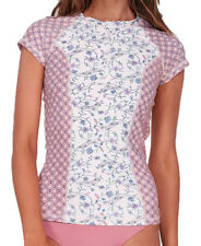 Tag Billabong Womens 10 Stevie Zip Wet Shirt Rashie Rash Vest Guava