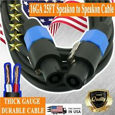 Premium Dj / Pro True Audio Pa Speaker Cable Speakon To Speakon 16 Gauge 25 Feet