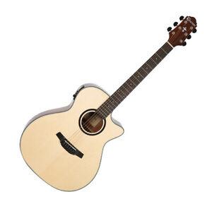 Crafter HGE-250 Pickup EQ Preamp Grand Auditorium Acoustic Guitar